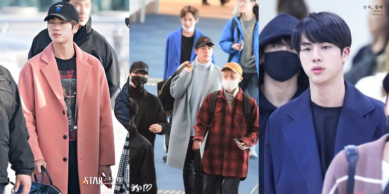 Airport Fashion 101 Jin Of Bts Kpopmap Kpop Kdrama And Trend Stories Coverage