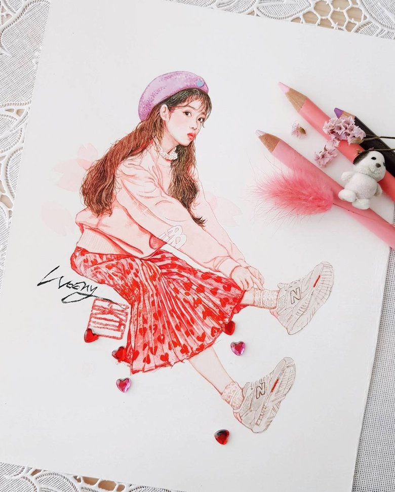 Check Out The Amazing Fan Art IU Herself Clicked Like On