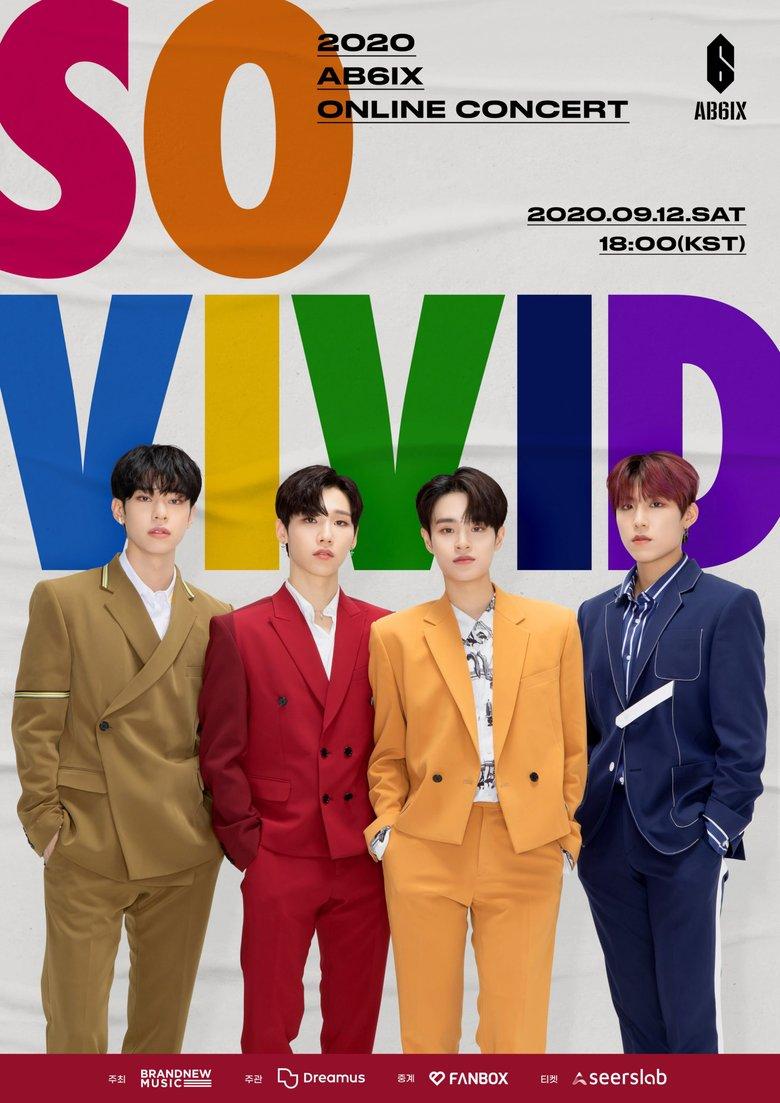 "2020 AB6IX Online Concert ""SO VIVID"": Live Stream And Ticket Details"