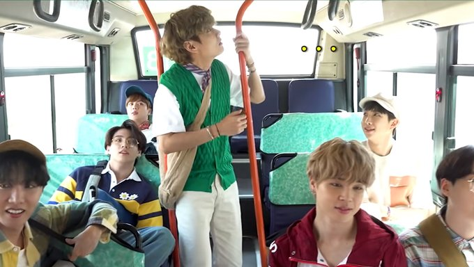 Bts S V Surprises Himself While Breaking The Handle Of The Bus Kpopmap Kpop Kdrama And Trend Stories Coverage