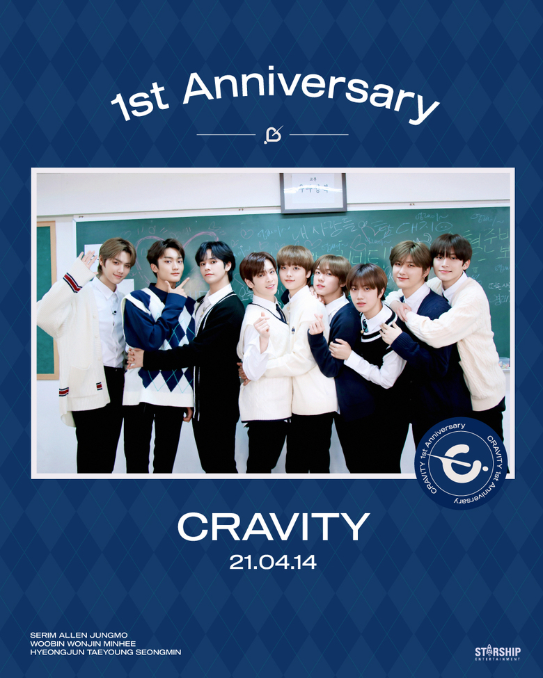 CRAVITY Celebrates 1 Year Of Anniversary Since Debut